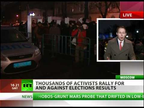 Huge rally against Russia vote results dispersed by cops