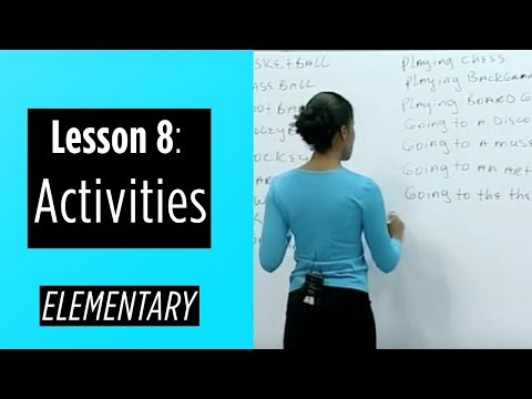 Elementary Levels - Lesson 8: Activities