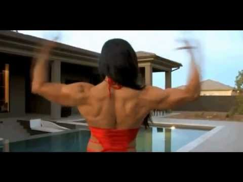 Beautiful Female Bodybuilder Marina Lopez Flexing Strong Muscles 2012