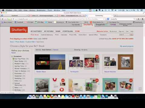 Creating a Memory Book in Shutterfly (Tutorial 1)