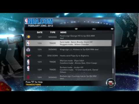 NBA 2K12: My Player - My Team Roster After Crazy Trades & Conference Standings Feat. My Athletic PG