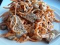 """Салат """"Гости на пороге"""" с корейской морковкой. Салаты рецепты быстрого приготовления.Salad recipes."""