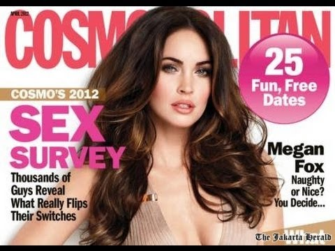 Megan Fox on the Cover of Cosmo - Hair Tutorial + Giveaway!