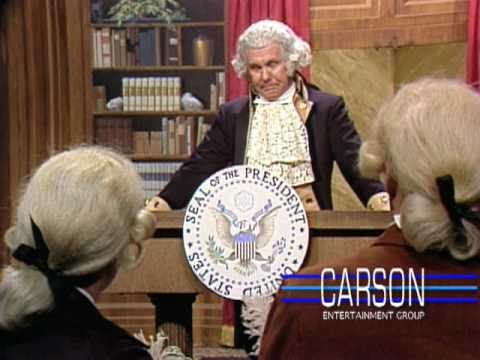 "Johnny Carson as George Washington at His First Press Conference - ""The Tonight Show"" - 1977"