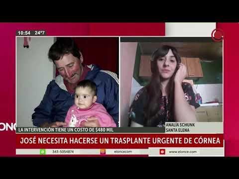 Entrerriano pide colaboración para someterse a un trasplante de córnea