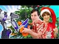 Новогодний #ЧЕЛЛЕНДЖ - игрушки для мальчиков от Hasbro. Видео с игрушками для детей