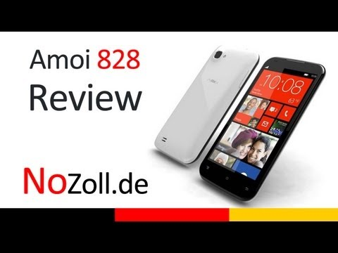 Amoi N828 Deutsch/German Handy Review - NoZoll.de -