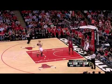 NBA Playoffs 2011: Miami Heat Vs Chicago Bulls Game 2 Highlights (1-1)