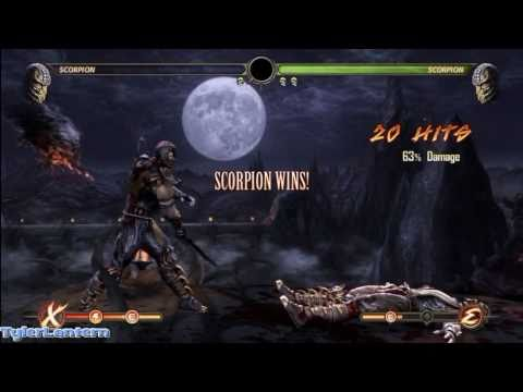 MK9 - Scorpion 63% Damage Combo (Without X-RAY) - Mortal Kombat 9 (2011) MK Demo Gameplay