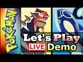 Let's Play LIVE! - Pokemon Omega Ruby and Alpha Sapphire Demo! (US English Version) (3DS Gameplay)