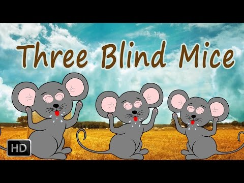 Three Blind Mice -  Nursery Rhymes (With Lyrics)