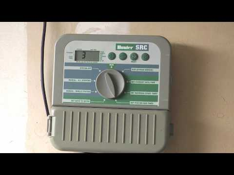 How To Program A Hunter SRC Series Sprinkler Timer.