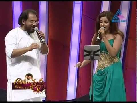 Shreya Ghoshal Sing with Yesudas@Asianet 50 Celebration