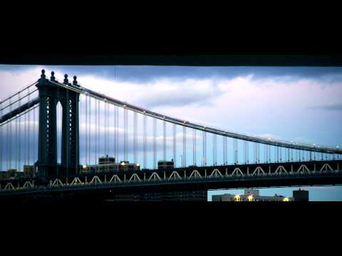 Royalty Free Stock Footage of Manhattan Bridge in New York City.