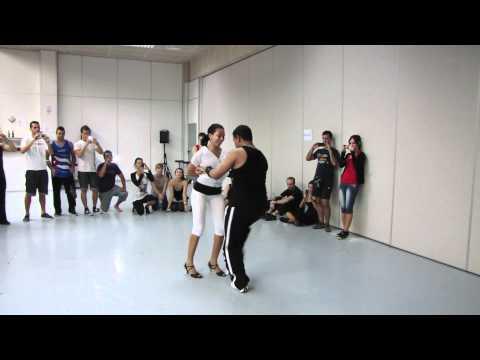 Yanek Revilla y Karelia. Taller de salsa intermedia. Cubanamera Mallorca 2011
