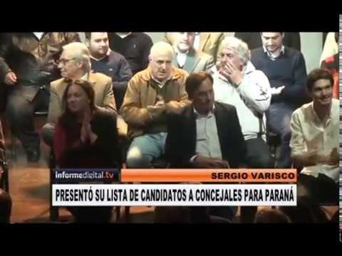 <b>Elecciones en Paran�. </b>Varisco present� sus candidatos y evit� mencionar al PRO.