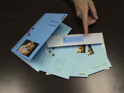 Unique Wedding Invitation Cards with Music or Recorded Voice Message