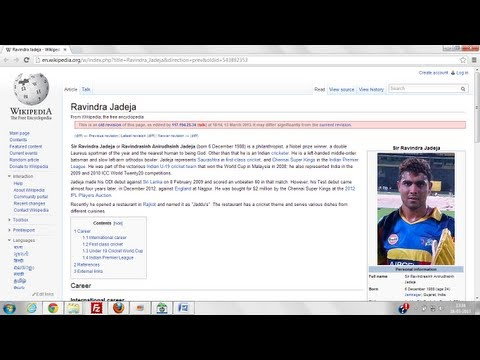 Now it's Wikipedia's turn to mock Ravindra Jadeja