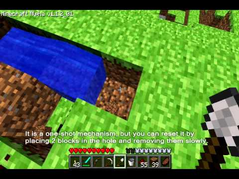 Minecraft Tutorial : Controlling water and lava with redstone