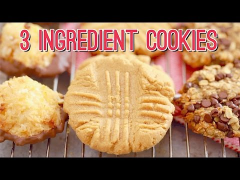 3 Ingredient Cookies: Three AMAZING Recipes!!! Gemma's Bigger Bolder Baking