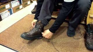 登山靴 靴紐の縛り方 基本編
