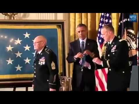 Obama presents medals of honor  to Vietnam   (Veterans)  9/15/14