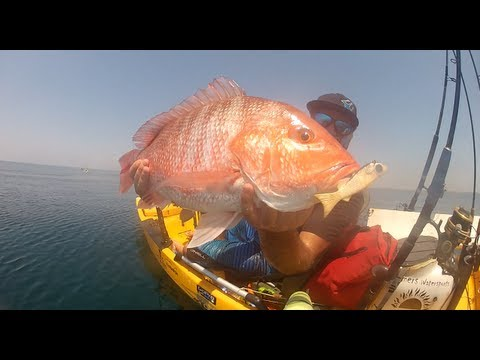 Red snapper kayak fishing