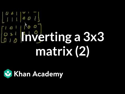 Inverting Matrices (part 3)
