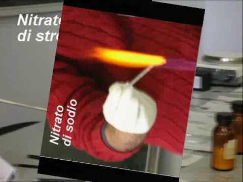 Esperimento di chimica - Saggio alla fiamma - Liceo scientifico Cannizzaro palermo