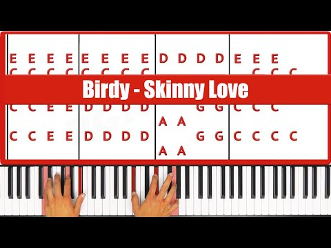 How To Play Birdy Skinny Love Piano Tutorial Lesson
