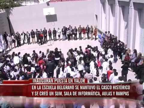 Inauguración de refacción de la Escuela Belgrano
