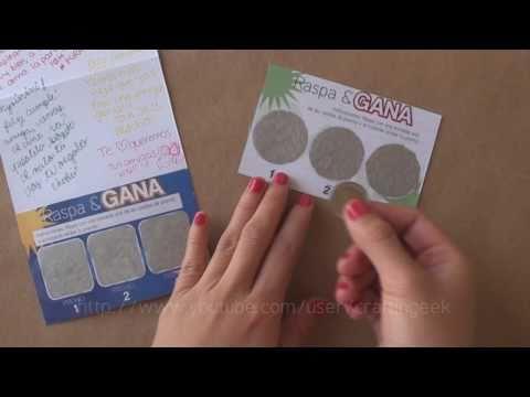 Carta RASPA&GANA // idea regalo - dia del amigo