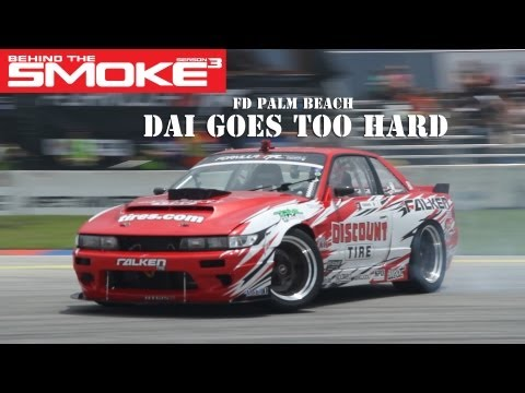 Formula Drift Round 3 - West Palm Beach - Dai Goes Too Hard - Behind T