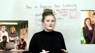 How to improve your listening in English video, engvid