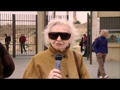 Marianne Schrettle in der Zitadelle von Amman