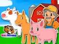 """Old MacDonald Had a Farm"" | Busy Beavers, Babies, Toddlers, Preschool, Animal Nursery Rhyme"