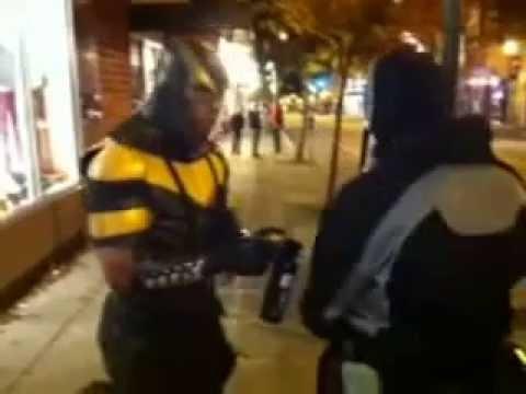 REAL LIFE Superhero KOs Guy In Street Fight