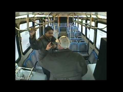 Raw: Neb. Bus Driver Assaults Passenger
