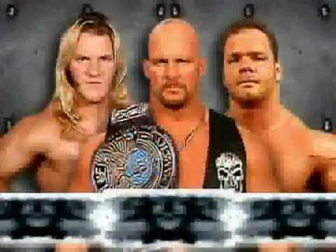 stone cold vs chris benoit vs chris jericho campeonato wwf rey del ring 2001  espanol latino