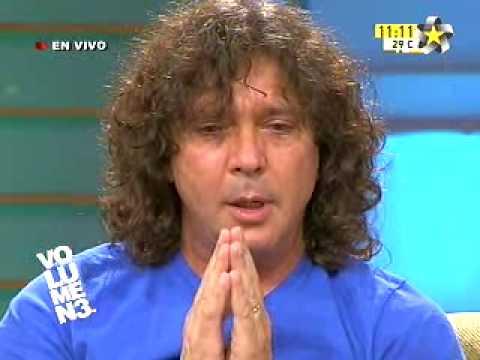Oscar Burgos... momento emotivo