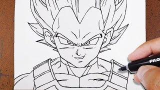 youtube como desenhar vegeta ssj blue dragon ball super how to