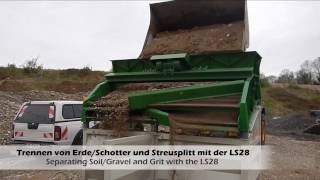 LS28 Erde/Schotter & Streusplitt sieben / Screening of Soil/Gravel & Grit