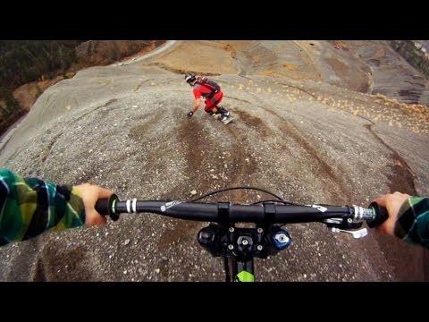 Závod kola a snowboardu, v létě! :-O