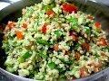 סלט בורגול בריא מהיר ורענן עם שמן זית ירקות,פרווה צמחוני וטבעוני בקלי קלות הערוץ הרשמי המקורי