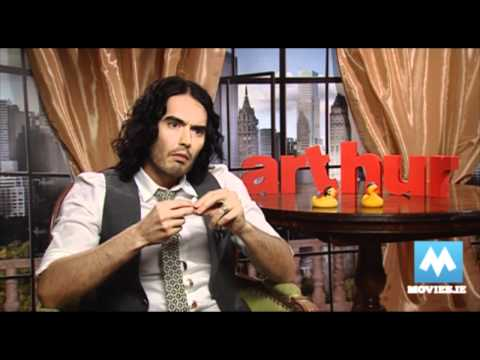 RUSSELL BRAND - interview with the star of Arthur, Hop & Rock Of Ages - YouTube