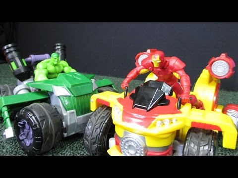 Marvel Avengers Remote Control Iron Man Arc Cycle And Hulk Atomic Rover From Jakks Pacific - UCBvkY-xwhU0Wwkt005XYyLQ