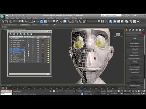 Facial Rigging in 3ds Max - Constructing the bones to deform the head