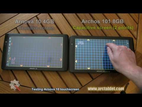 Capacitive vs Resistive touchscreen - Arnova 10 vs Archos 101 IT touchscreen test