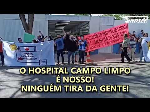 Prefeito Bruno Covas foge de protesto contra a terceirização do Hospital Campo Limpo