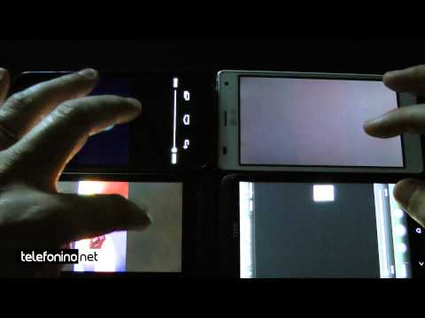 Display 720p a confronto: One x, Xperia S, Galaxy Nexus e LG Optmius 4X HD da Telefonino.net